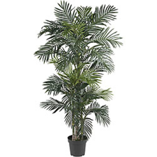Nearly Natural Artificial Plants 6 ft Bamboo Palm Silk Tree
