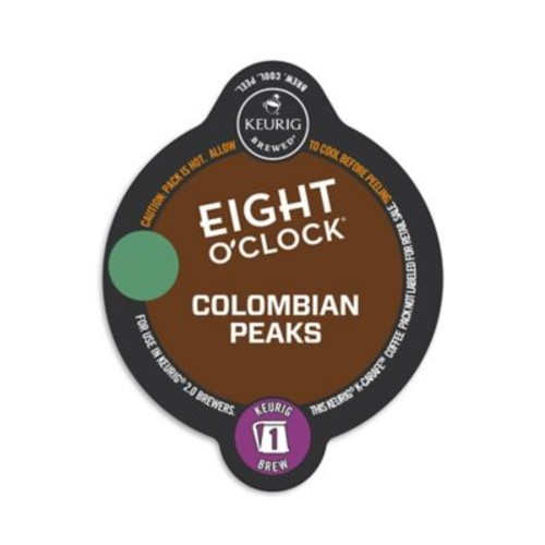 Keurig K-Carafe Pack 8-Count Eight O' Clock Colombian Peaks Medium Roast Coffee