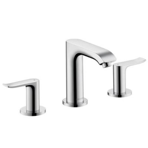 Hansgrohe Metris 8 in. Widespread 2-Handle Low-Arc Bathroom Faucet in Chrome