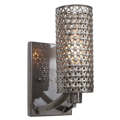 Varaluz Casablanca 1 Light Wall Lighting , Steel With Recycled Steel Mesh