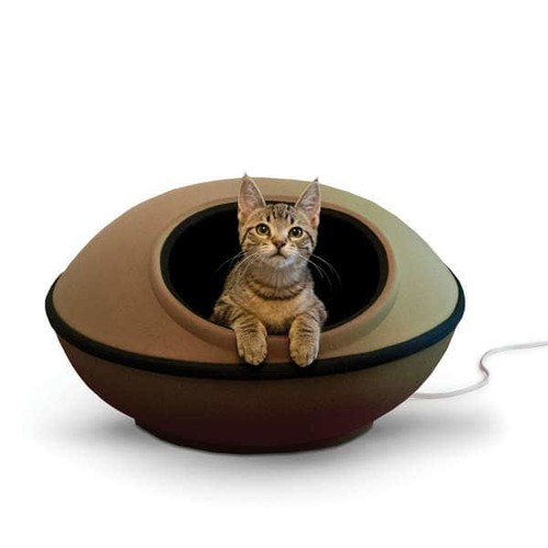 K&H Pet Products Thermo-Mod Dream Pet Bed Pod [option : Tan and Black]