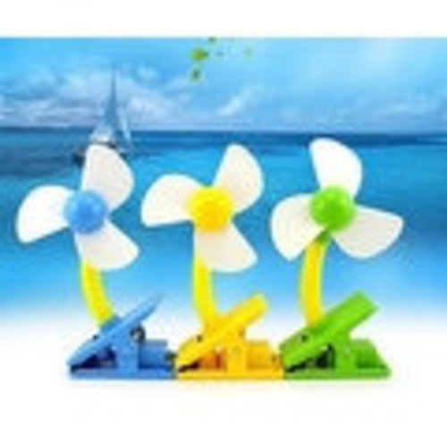 Mini Portable USB Fan With Charger [option : Yellow]