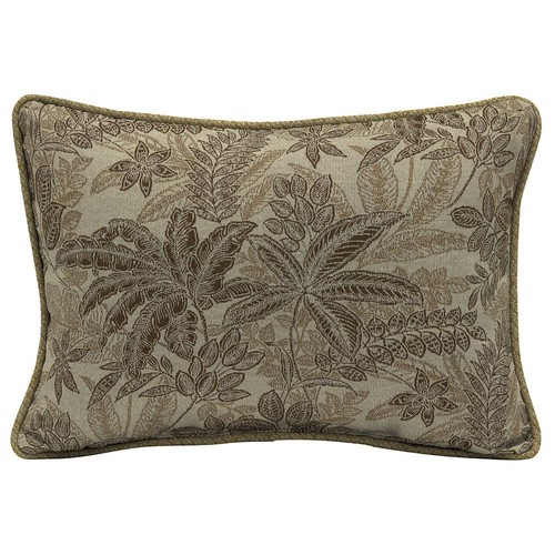 Bombay Outdoors Palmetto Floral 2-piece Reversible Oversize Oblong Throw Pillow Set