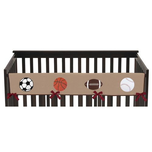 Sweet Jojo Designs All Star Sports Collection Long Crib Rail Guard Cover