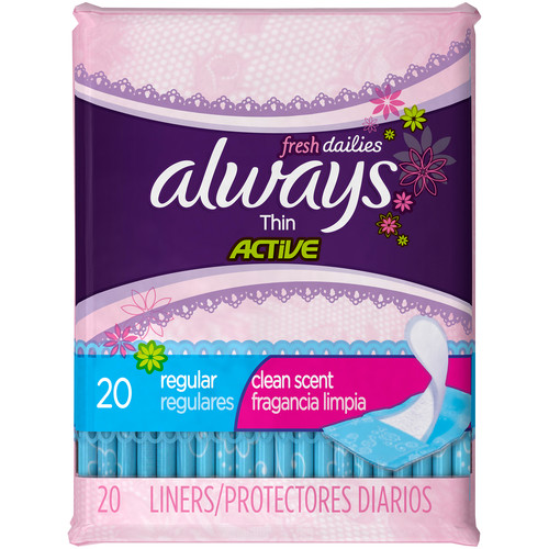 Always Pantiliners Thin Wrapped - 20 count