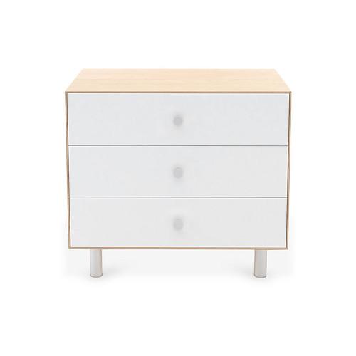 Classic 3-Drawer Dresser, White/Natural