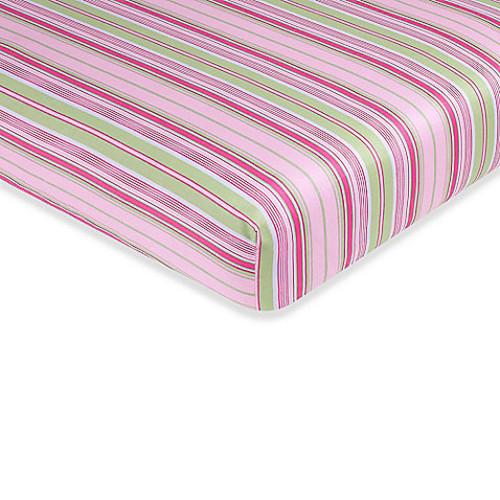 Sweet Jojo Designs Jungle Friends Fitted Crib Sheet in Stripe Print