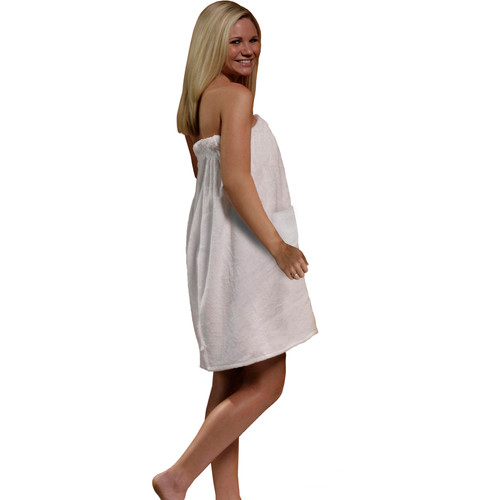 Radiant Saunas Women's Spa & Bath Terry Cloth Towel Wrap - White