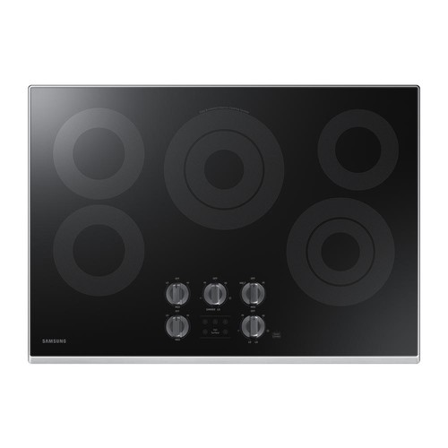 Samsung 30 in. Glass Surface Electric Cooktop in Stainless Steel with 5 Elements with Rapid Boil and Wi-Fi