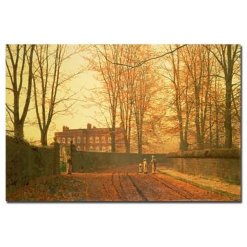 Trademark Fine Art John Grimshaw 'Going to Church, 1880' Canvas Art 22x32 Inches