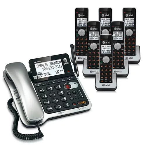 AT&T CL84602 Corded / Cordless Phone Combo W /High Definition Audio Technology
