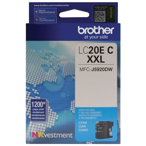 Brother INKvestment LC20EC Extra High Yield Cyan Ink Cartridge