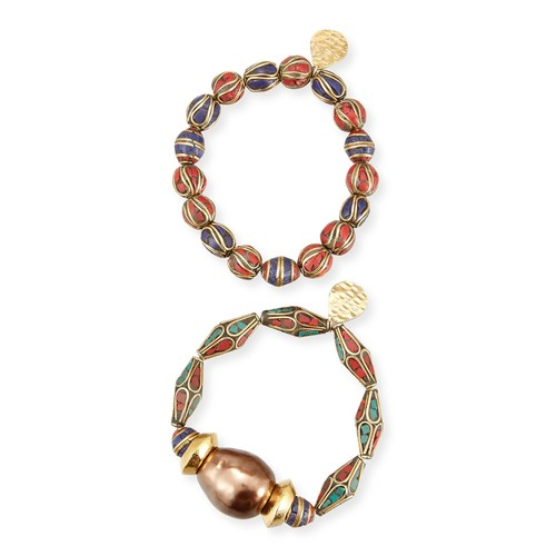 Set of Two Beaded Bracelets
