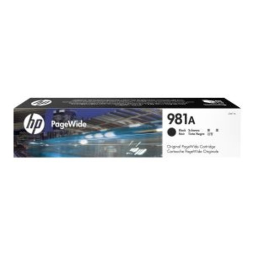 HP 981A - Black - original - PageWide - ink cartridge - for PageWide Enterprise Color MFP 586; PageWide Managed Color E55650