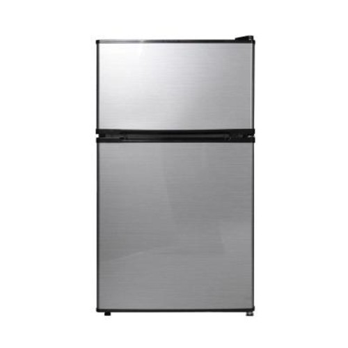 Midea 3.1 cu. ft. Double Door Mini Refrigerator/Freezer in Stainless Steel
