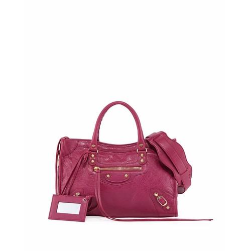 Balenciaga Classic City AJ Leather Satchel Bag, Pink