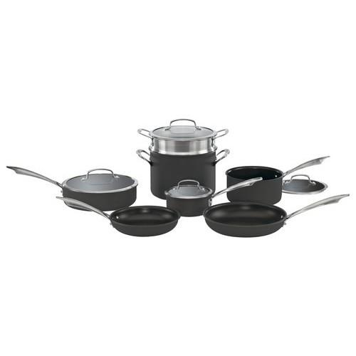 Cuisinart - 11-Piece Cookware Set - Black