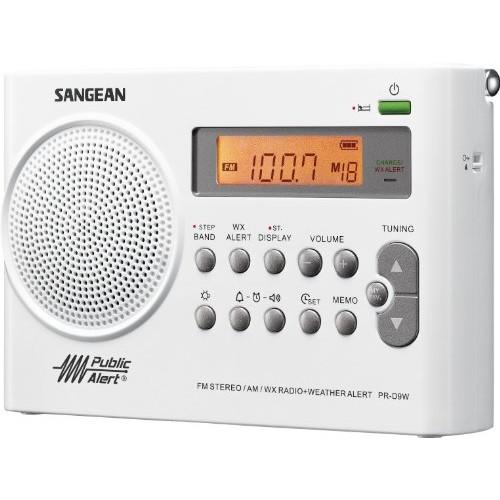 Sangean PR-D9W AM/FM Weather Alert Rechargeable Portable Radio [12.20in. x 6.80in. x 3.00in.]