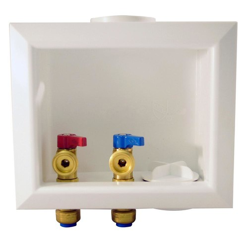 Tectite 1/2 in. Brass Washing Machine Outlet Box