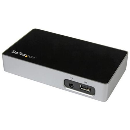StarTech USB 3.0 DVI Docking Station for Laptops, Black and Silver USB3VDOCKD