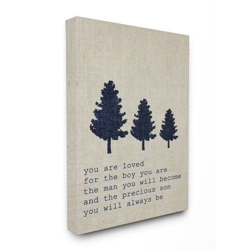 'You are Loved Son Trees' Stretched Canvas Wall Art