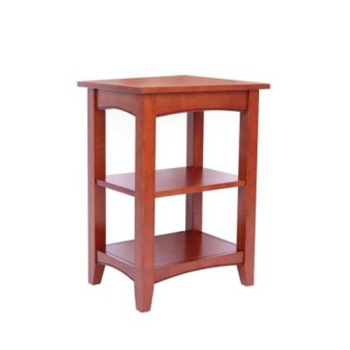 Alaterre Furniture Shaker Cottage Cherry Storage End Table