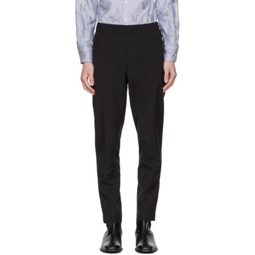 STELLA MCCARTNEY Black Zip Trousers
