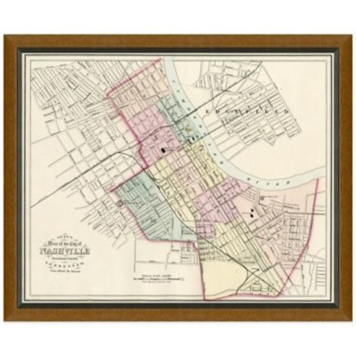 Framed Map of Nashville, TN Wall Dcor