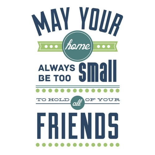 RoomMates Room For Friends Quote Peel and Stick Wall Decal, 9