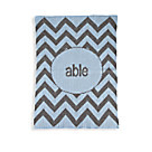 Personalized Chevron Cashmere Blanket