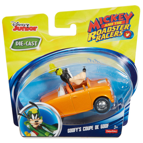 Fisher-Price Disney Junior Mickey and The Roadster Racers Goofy's Coupe De Goof Die-Cast Cruiser