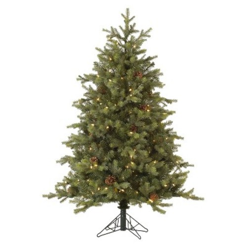 9ft Rocky Mountain Fir LED Pre-Lit Instant Artificial Christmas Tree Full - Multicolor Lights