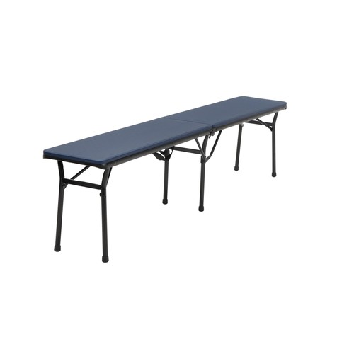 Cosco Home and Office Products 6 ft. Dark Blue Center Fold Tailgate Bench with Carrying Handle, 2 Pack