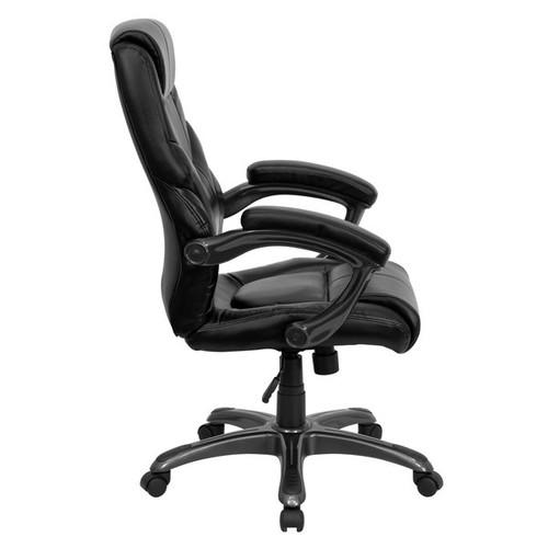 Lardel Design Black Leather Executive Adjustable Swivel Office Chair