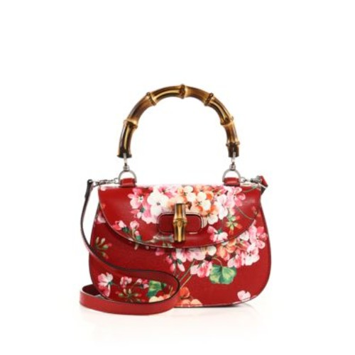 GUCCI Bamboo Classic Blooms Top-Handle Bag