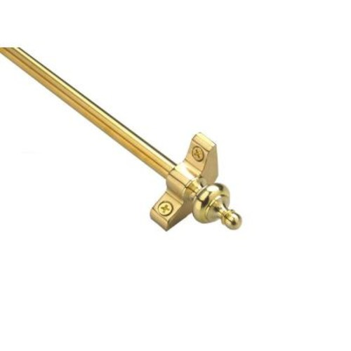 Zoroufy Select Collection Tubular 48 in. x 3/8 in. Polished Brass Finish Stair Rod Set with Urn Finials