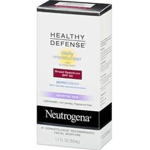 Neutrogena Healthy Defense Daily Moisturizer Sensitive Skin, SPF 50 Lotion 1.70 oz
