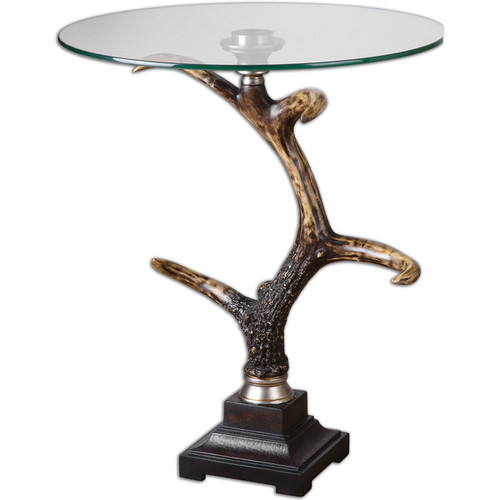 Uttermost Coffee, Console, Sofa & End Tables Uttermost Stag Horn Accent Table