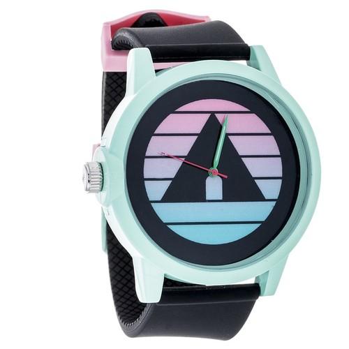 Airwalk Metal Alloy Design w/ Turquoise Case and Black Strap Analog Watch