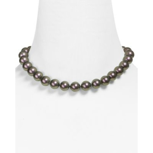Monochrome Simulated Pearl Necklace, 16