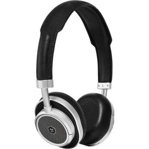 MW50 Wireless On-Ear Headphones (Silver Metal, Black Leather)