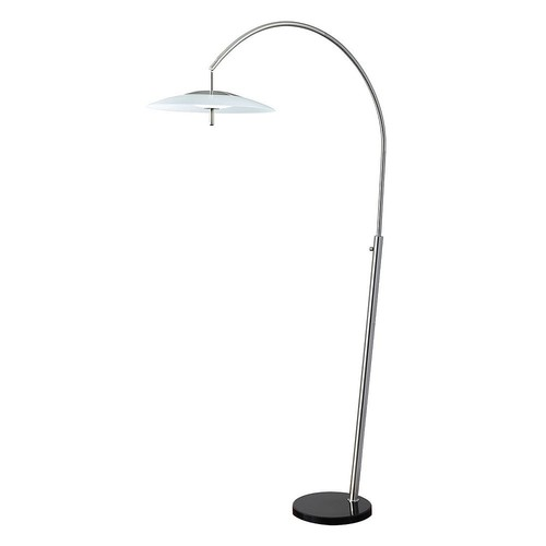 Adesso Stellar 82 in. Silver LED Arc Lamp
