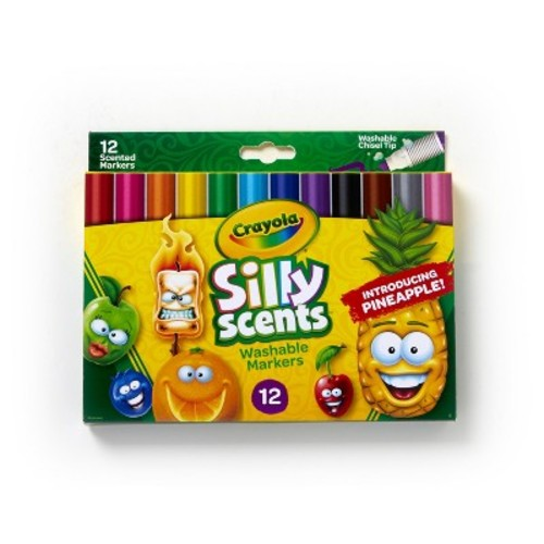 Crayola Silly Scents Wedge Tip Scented Washable Markers - 12 Count