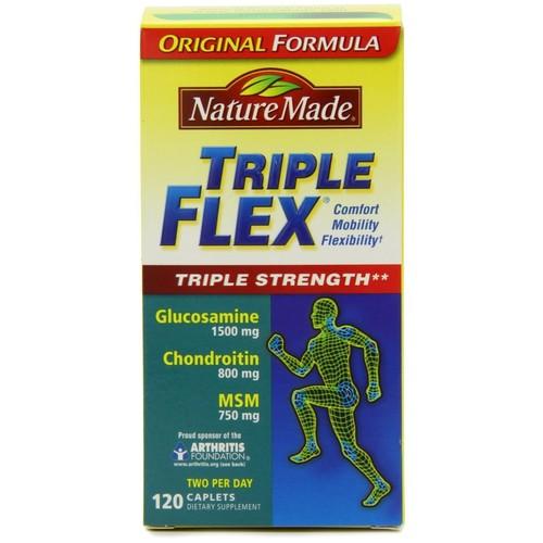 Nature Made Triple Flex, Original Formula, Triple Strength, Caplets, 120 caplets