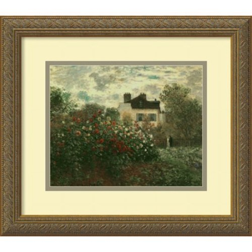 The Artist's Garden at Argenteuil, 1873 Framed Wall Art by Claude Monet - 16.12W x 14.12H in.