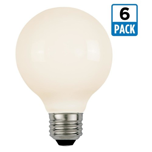 Westinghouse 60W Equivalent Soft White G25 Dimmable Filament LED Light Bulb (6-Pack)