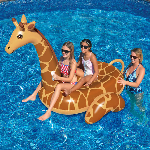 Swimline Giant 96-in Inflatable Giraffe Ride-On Pool Toy