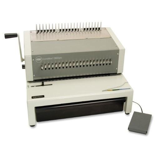 Swingline GBC 27170 CombBind C800pro Binding System, Binds 500, 18 1/2 x 19 5/16 x 14 7/8, Gray : Office Products