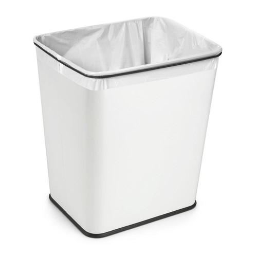 Polder 7-Gal. Under-Counter Waste Can White