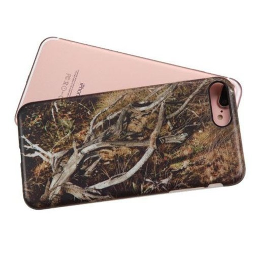 Insten Brown/ Black Vines TPU Rubber Candy Skin Case Cover For Apple iPhone 7 Plus